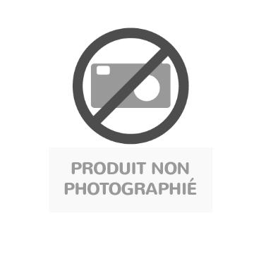 Table Lili avec roulettes, plateau rectangulaire hêtre, piétement bois couleur