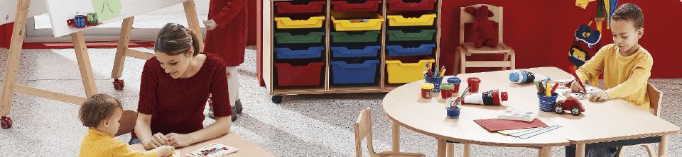 Ligne de mobilier maternelle Lise bois