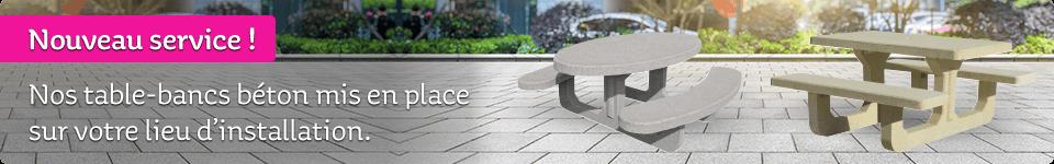 Table-bancs béton